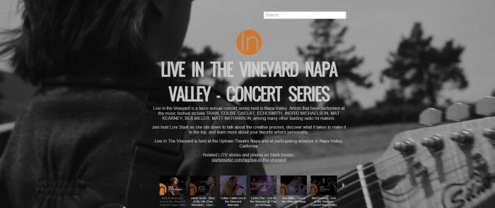 Live in the Vineyard video playlist - Stark Insider