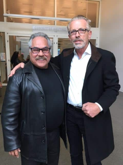 Luis Valdez with Randall King