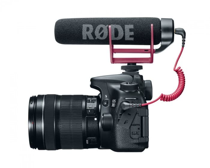 Canon EOS 70D with Rode Videomic Go