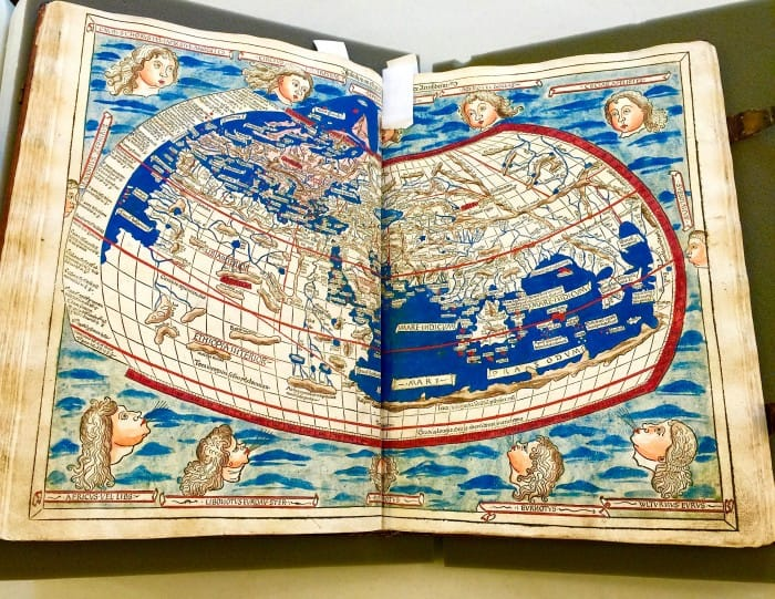 Lilly Library-one of the first maps used by explorers