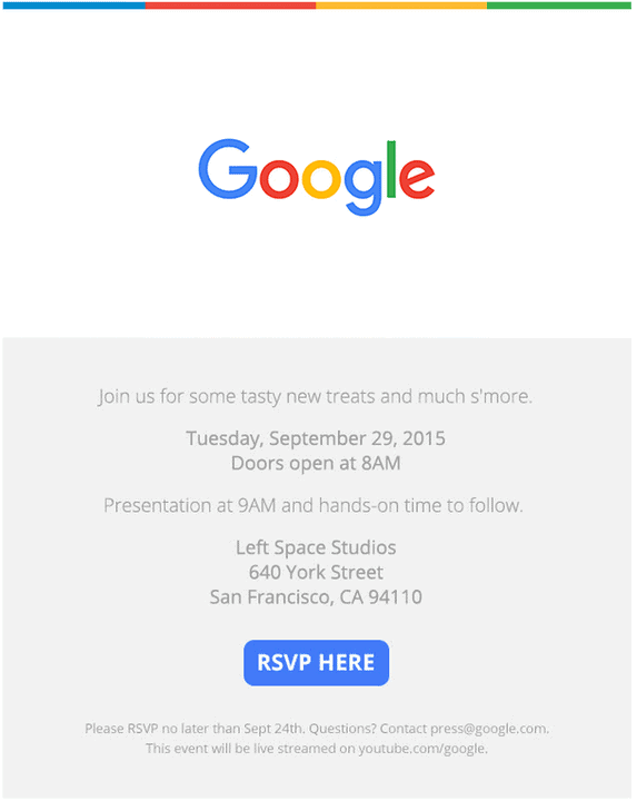 Google Nexus Event - San Francisco