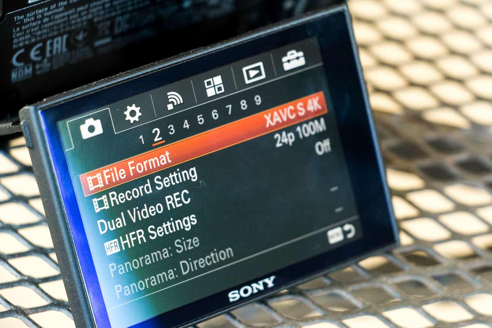 Sony RX100 IV camera XAVC S 4K