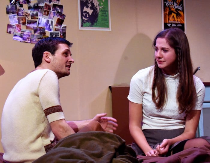 Jessica (Katie Robbins) and Warren (Sam Bertken). Photo by Jay Yamada