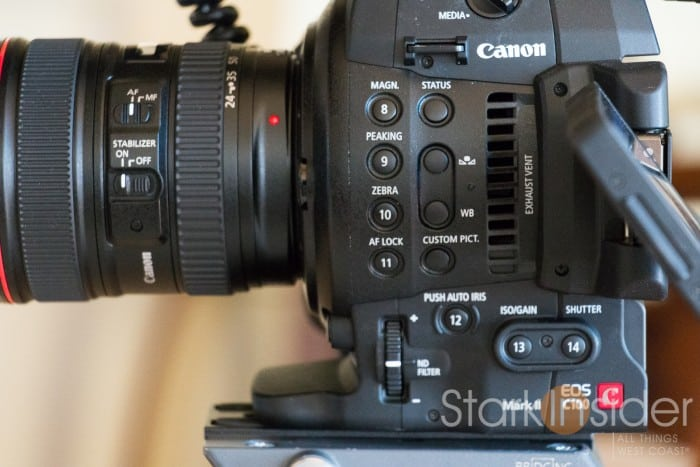 Canon C100 Assignable Buttons