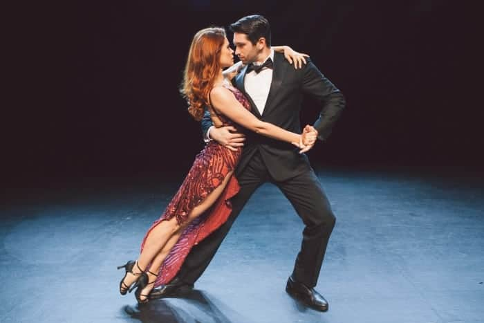 Anna Trebunskaya and Dmitry Chaplin in Luis Bravo's FOREVER TANGO, playing at San Francisco's newly remodeled Herbst Theatre beginning December 20, 2015. Photo credit: Alexa Sonner