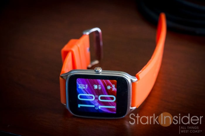 Asus ZenWatch 2 with Orange Band