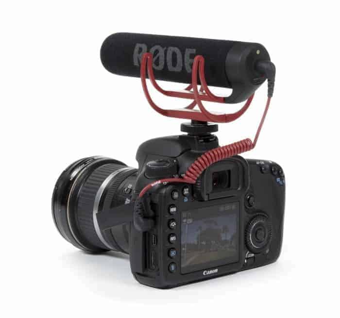Canon EOS DSLR with Rode VMGO Shotgun Microphone