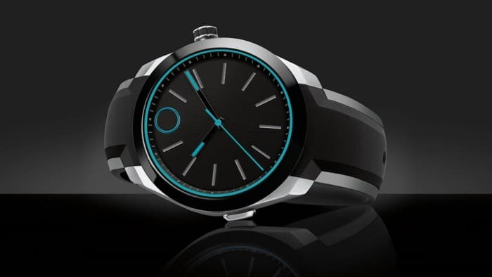 Movado Bold Motion smartwatch: Looks dramatic, relies on haptic feedback and LEDs for notifications.