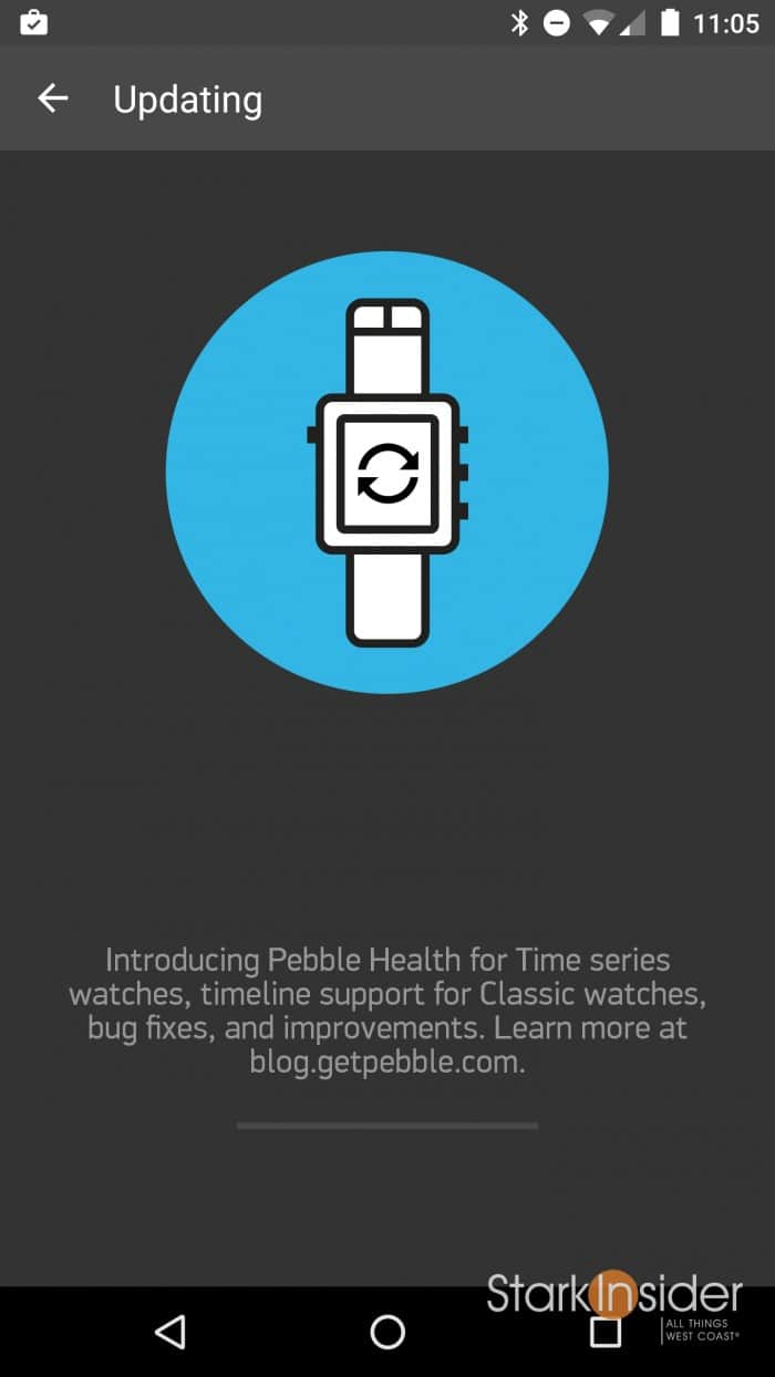 Pebble App for Android update