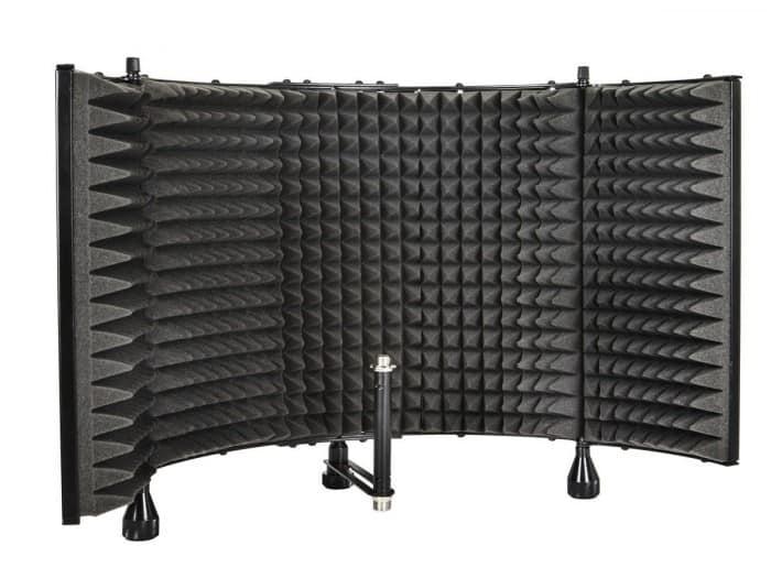 Monoprice Pro Audio Desktop Adjustable Acoustic Microphone Isolation Shield