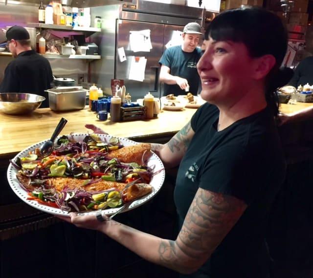 BBQ salmon rocks at DeSoto