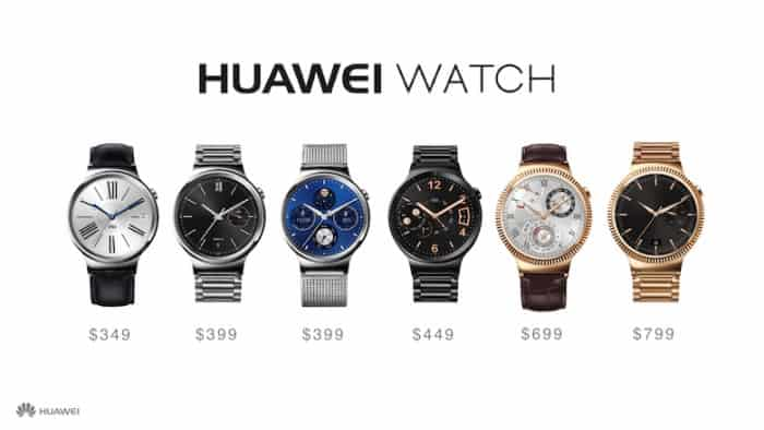 Huawei Watch Prices