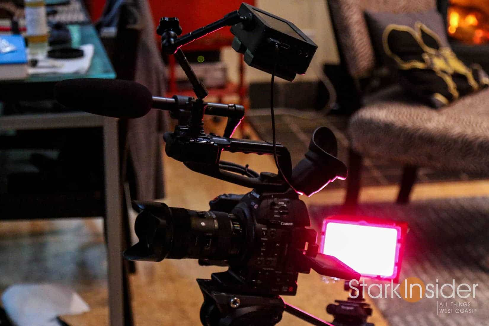 Canon C100 Mark II with DIY LED gel