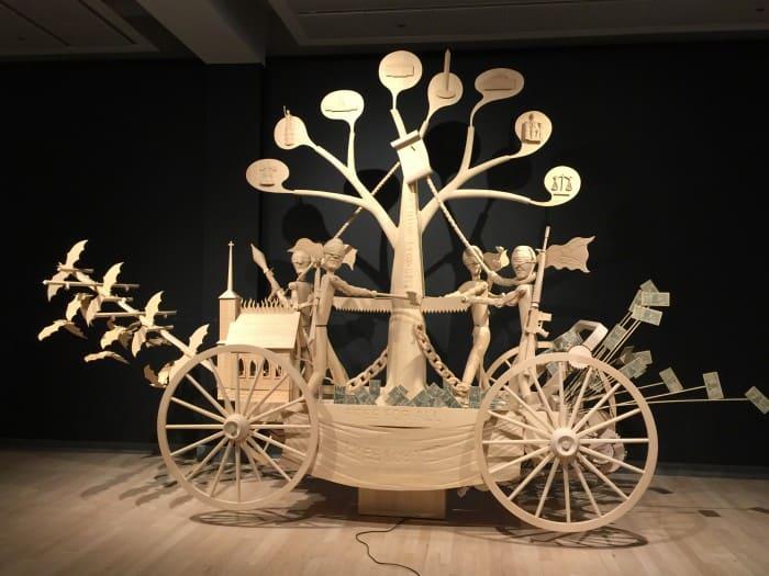 John Buck's hand-carved wood sculptures