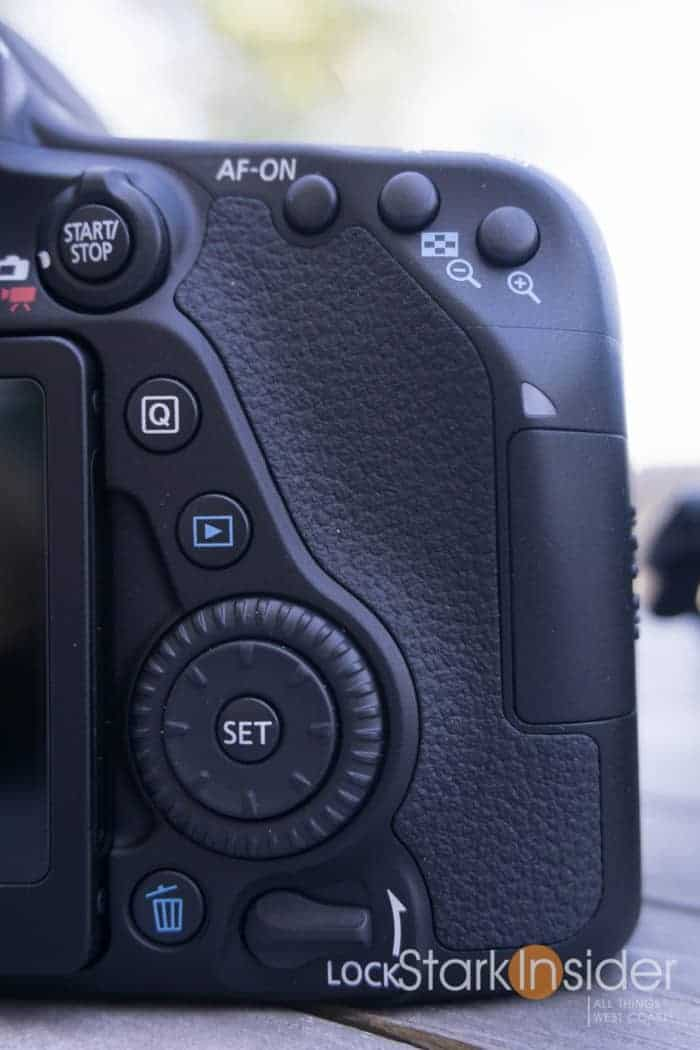 Canon EOS 80D button changes vs. 70D