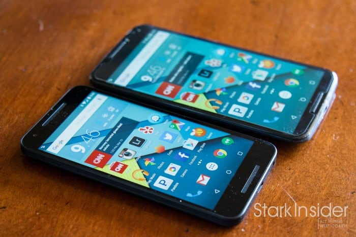 LG Nexus 5X vs. Motorola Nexus 6 - Screen