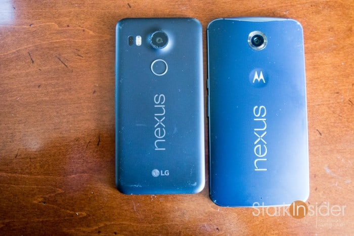 LG Nexus 5X vs. Motorola Nexus 6