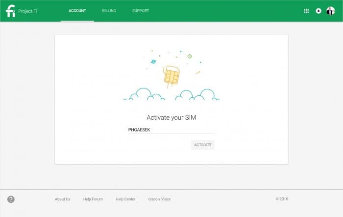 Google Project Fi Billing Dashboard