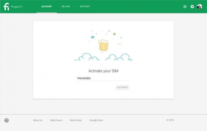 Google Project Fi Billing Dashboard