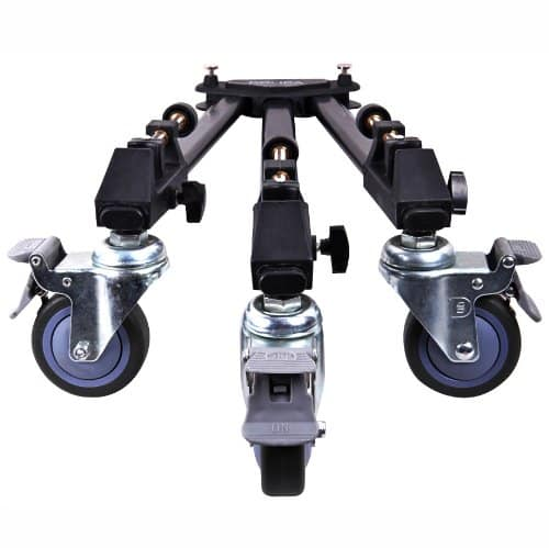 Dolica LT-D100 Professional Lightweight and Heavy Duty Tripod Dolly with Adjustable Leg Mounts