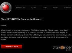RED Raven allocation email - Stark Insider