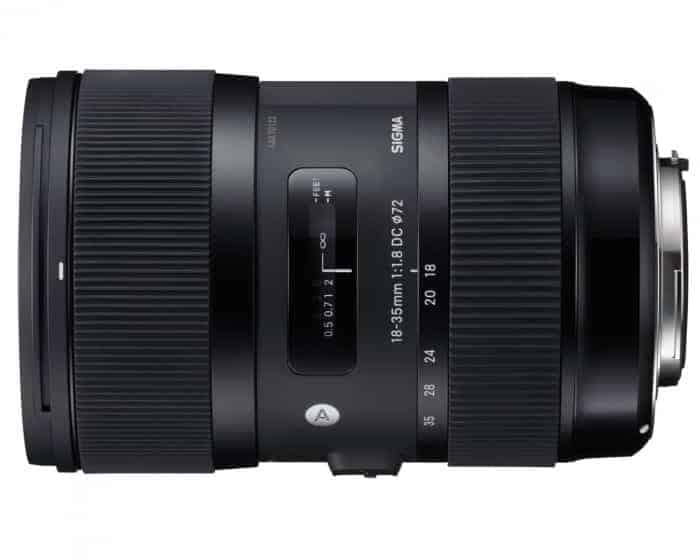 Roll over image to zoom in Sigma 210101 18-35mm F1.8 DC HSM Lens for Canon APS-C DSLRs