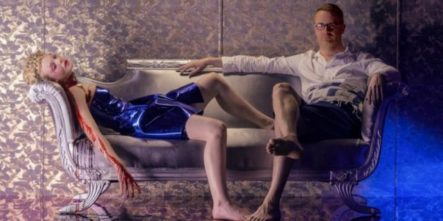 Elle Fanning with Nicolas Winding Refn