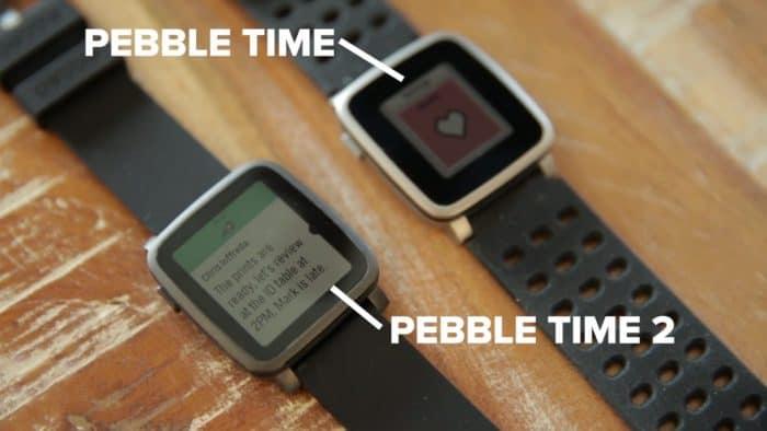 Pebble Time vs Pebble Time 2 bezel size