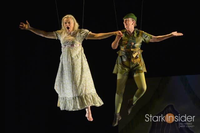 (l to r) Ellen McLaughlin (Wendy) and Kathleen Chalfant (Ann) in Sarah Ruhl's For Peter Pan on her 70th birthday at Berkeley Rep.