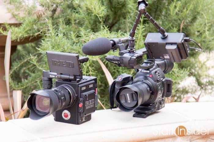 RED Raven and Canon C100 Mark II