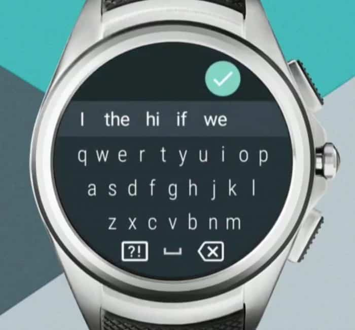 Android Wear QWERTY keyboard Hell
