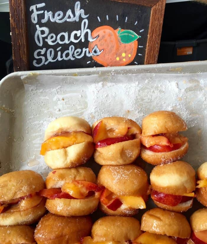 Get your hot peach sliders at 2016 Atlanta Food & Wine Festival
