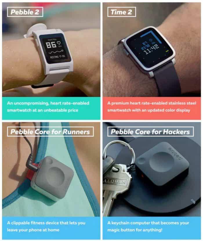 New Pebble Wearables - 2016