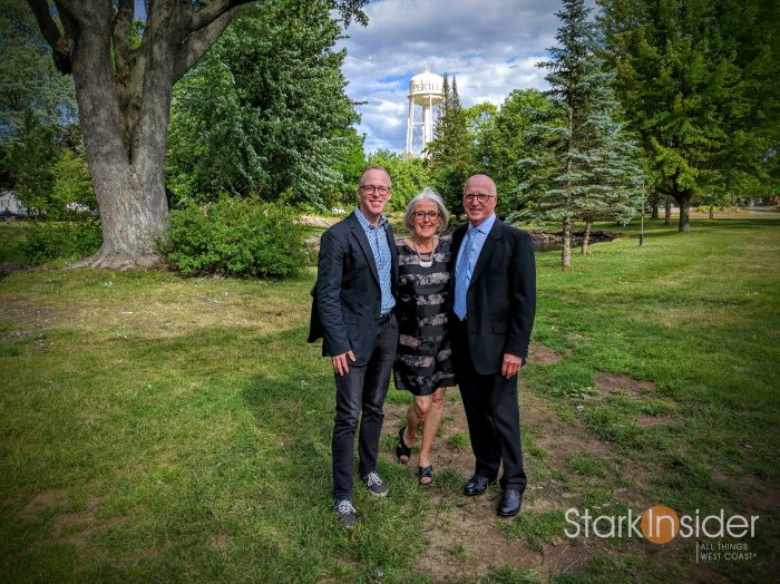 Clint Stark with Mom and Dad in Perth, Ontario