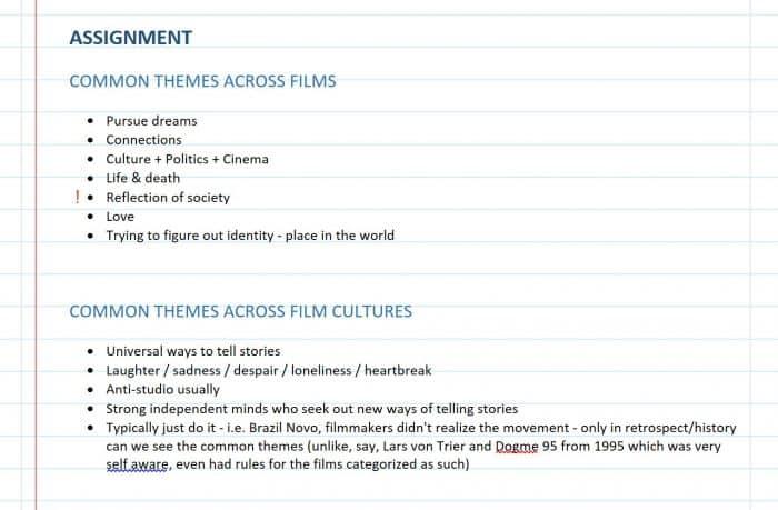 Common Themes Film Culture Cinema History