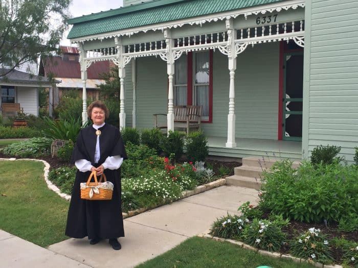 Tour guide on Frisco Heritage Center-JRN