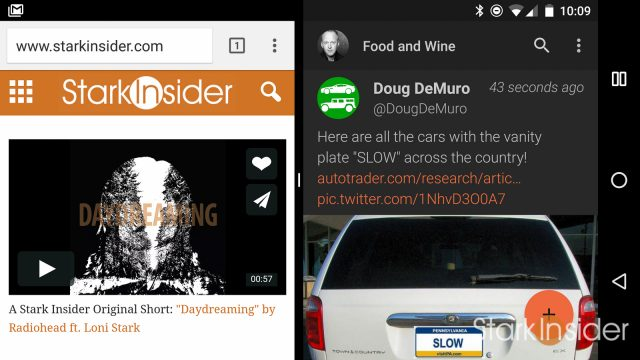 Android 7.0 Nougat What's New: Multi-Window Mode