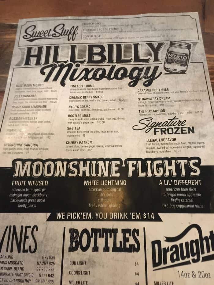 Get your moonshine at Mash'd -JRN