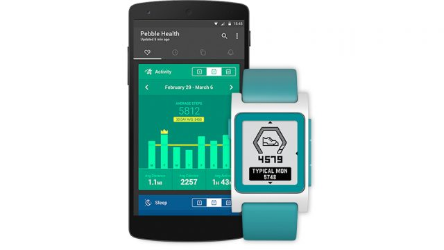 Pebble Health App Updates 2016