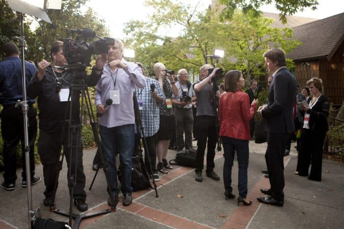 Opening night of MVFF 38 in 2015 with director Tom Hooper. Photo credit: MVFF/Tommy Lau.