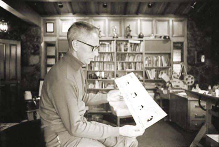 Charles Schulz in Sonoma Studio on Coffee Lane, 1969