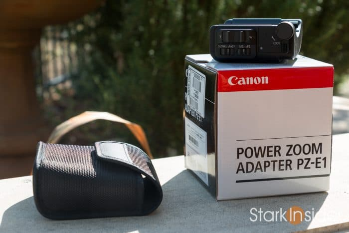Canon PZ-E1 Power Zoom Adapter - Test with Video