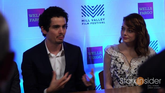Damien Chazelle with Emma Stone - La La Land press conference