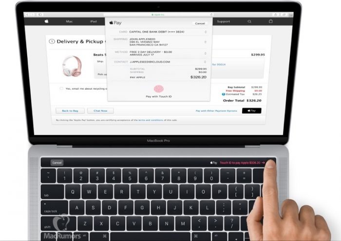 MacBook Pro Touch ID - Magic Toolbar