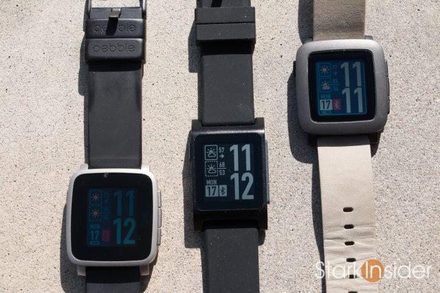 Pebble 2 Smartwatch Review - Screen comparison Pebble Time