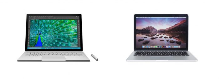 Microsoft Surface Book vs. Apple MacBook Pro