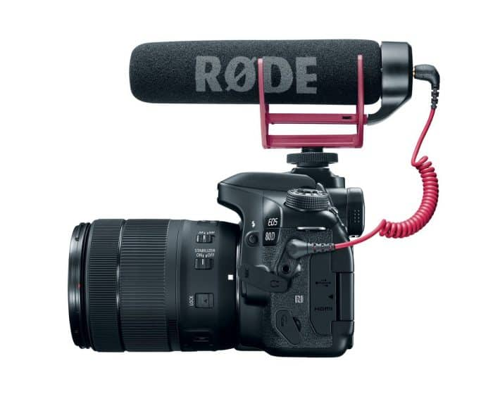 Canon EOS 80D Video Creator Kit with EF-S 18-135mm 1:3.5-5.6 IS USM Lens and Rode Video Mic GO