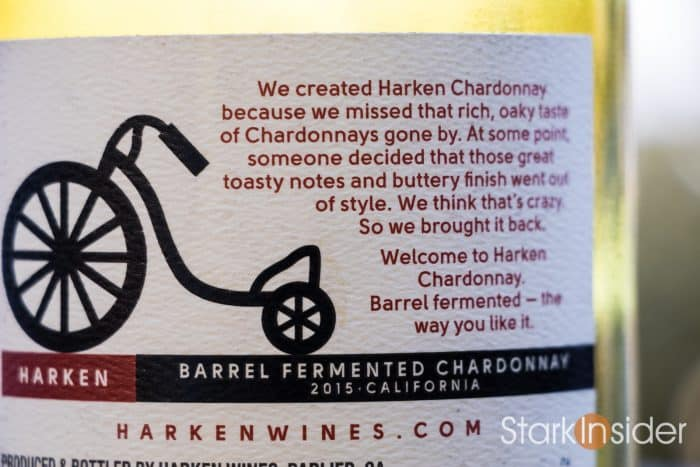 Harken Chardonnay Wine Label - Wine Review