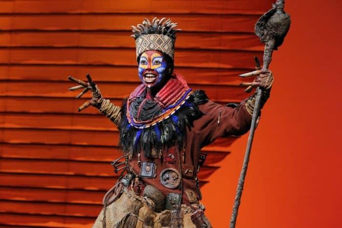 Buyi Zama as Rafiki in The Lion King - San Francisco