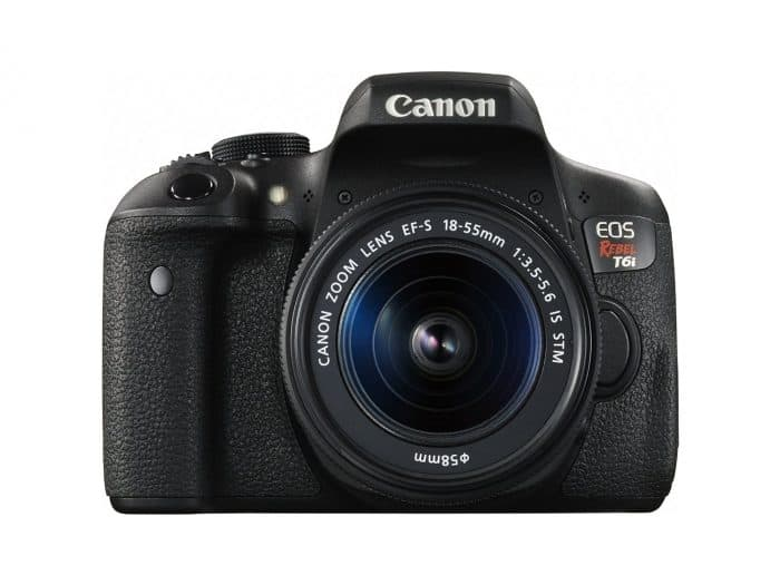 Canon EOS Rebel T6i Digital SLR with EF-S 18-55mm IS STM Lens